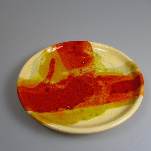 Unterteller rot-gelb-orange ; 13,5 cm ; 9€